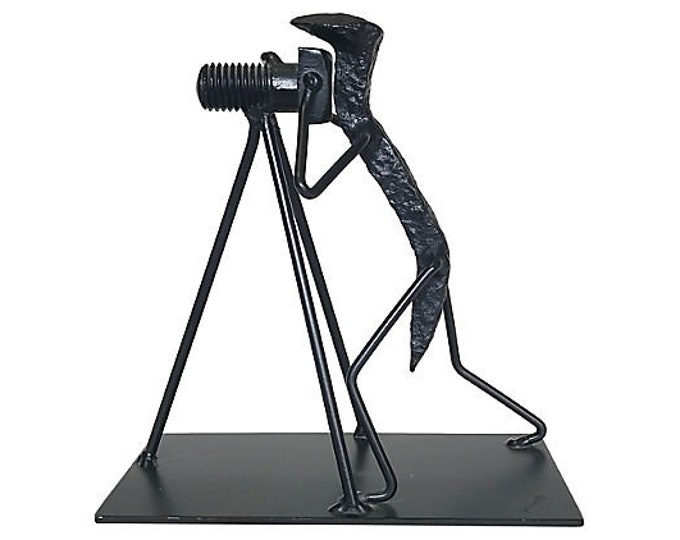 Photographer Railroad Spike Sculpture by Doyle LaVelle Herrin