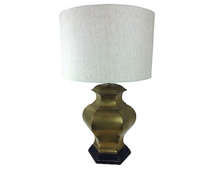 Solid Brass Modern Ginger Jar Lamp - Modernist - Chinoiserie