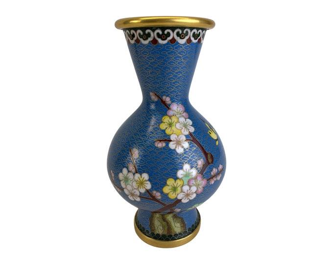 Multicolor Brass Cloisonné Vase