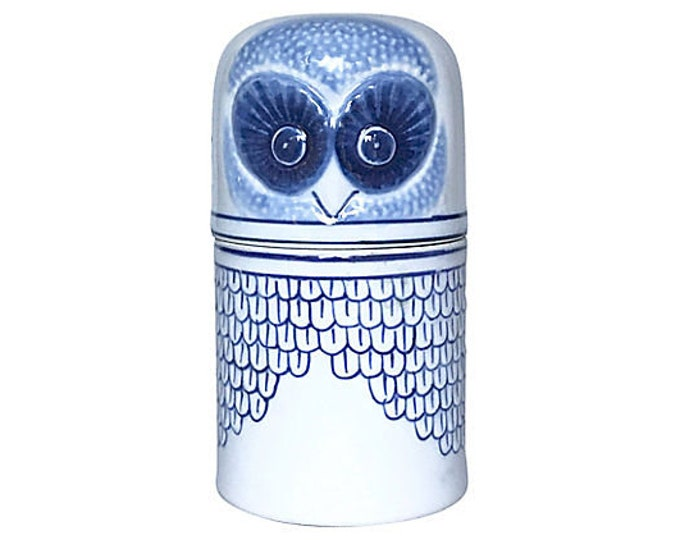 Porcelain Owl Trinket Box