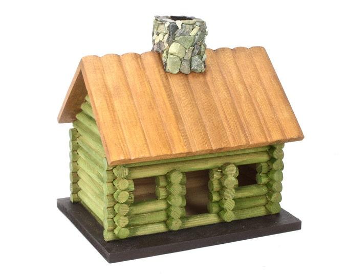 Lake Log Cabin Model or Bird Feeder