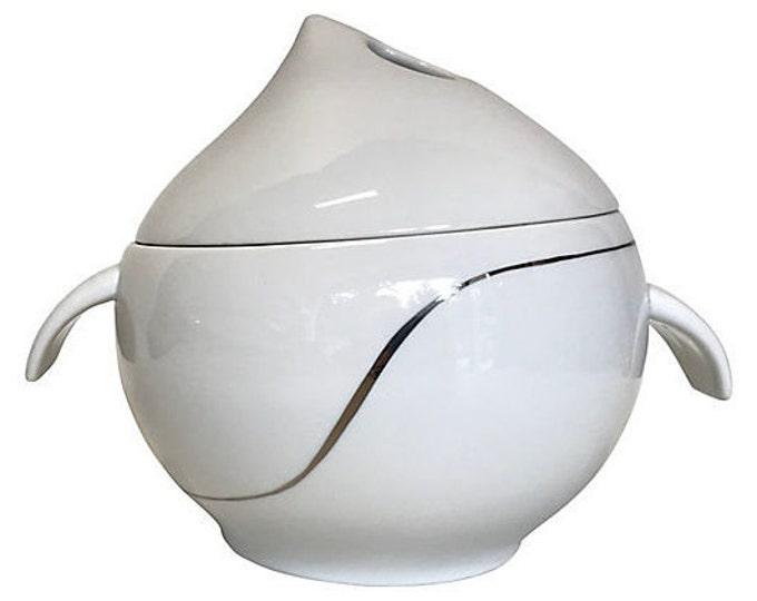 Modernist Porcelain Covered Tureen/Dish