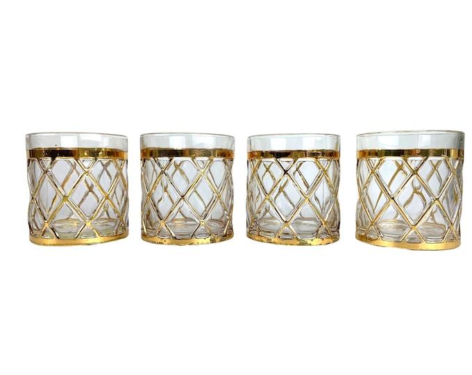 14K Gold-Plated Altazurra Rocks Glasses, S/4
