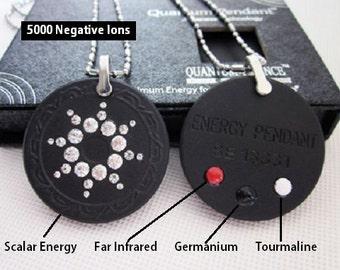 QP7 Quantum Pendant Swarovski Birthstone Crystal 5000 Ionic Scalar  Energy