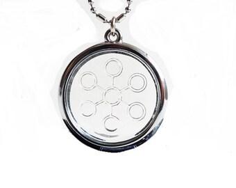 QP15 Dalimara Bio Disc 7-Point Energy Chi Circles Pendant