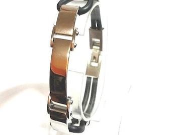 QB15 Iwakura Multi-cord Rubber & Stainless Steel Quantum Bracelet