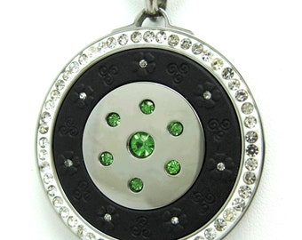 QP12 Quantum Pendant w/ Peridot Crystals, Volcanic Lava and Neo Rare-Earth Magnet