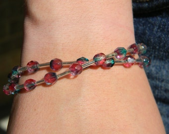 Watermelon Crystal Bracelet