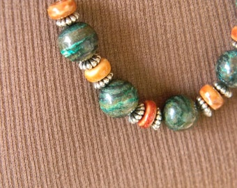 Earth Tones Minimalist Necklace
