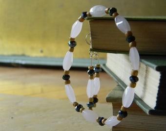 Rose Quartz Bracelet and Earrings