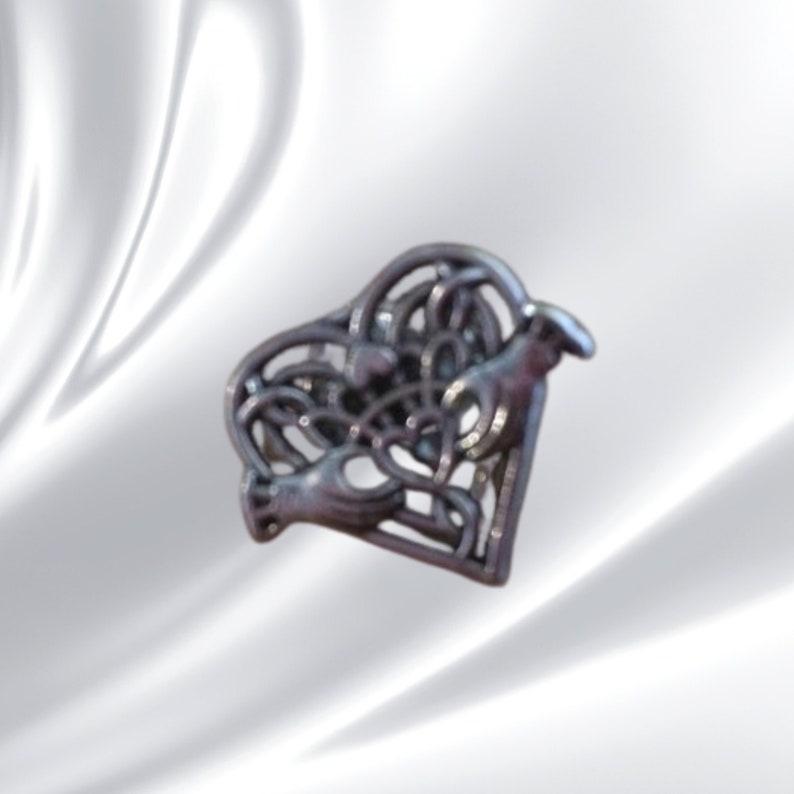 claddagh Celtic pin locket Scottish souvenir photo locket cat pin claddagh heart locket pin claddagh pin Scottish pin thistle pin