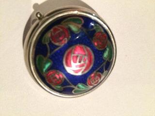 Rennie Mackintosh Glasgow rose design pill box