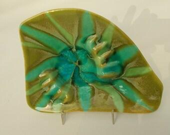 ceramic sixties ashtray with beautiful glaze