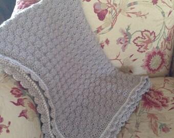 Classic Shell Stitch Crochet Baby Blanket