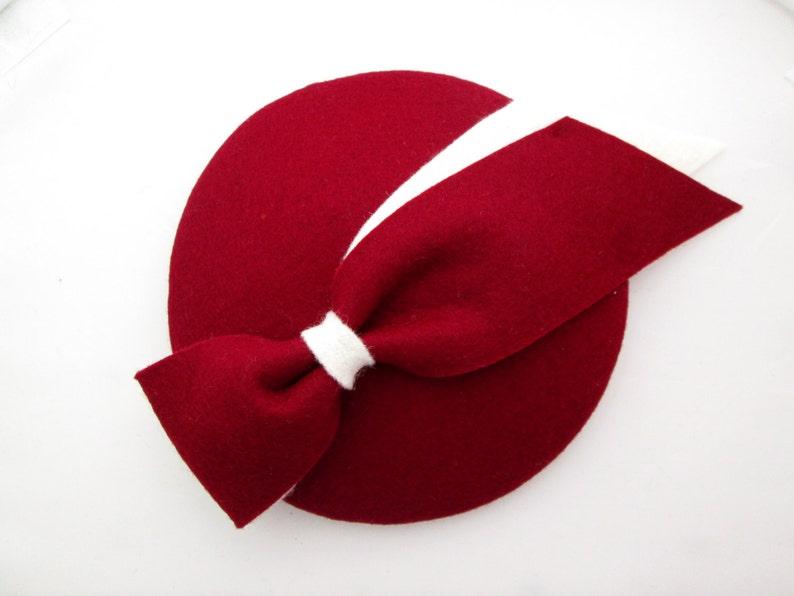 af28692b13d70 Red Wedding Hat Red Fascinator Red Hat Mini Hat Felt Hat