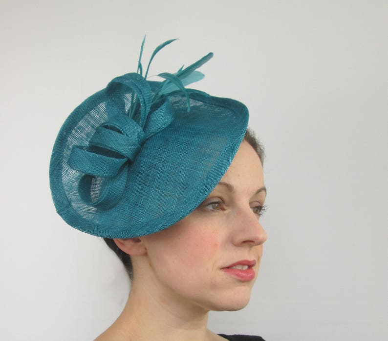 5c1146c2ecaae Teal Hatinator Teal Hat Races Hat Wedding Hat