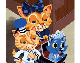 Limited Edition Victorian Cats- 8x10