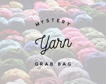 1387ddef47 25+ DOLLAR VALUE Mystery Yarn Grab Bag - Yarn Lot - SALE - Lucky Dip -  Mystery Yarn - knit crochet tools - discount yarn
