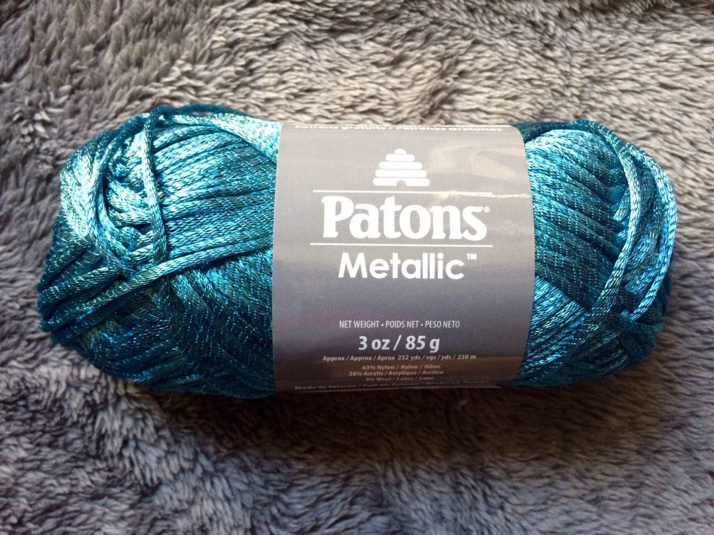 Patons Metallic yarn - Metallic Teal - Teal Turquoise Blue Shiny ...