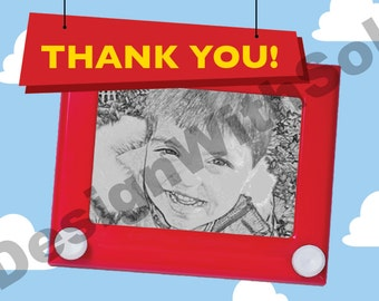 Custom Print Yourself Toy Story Inspired Thank You card
