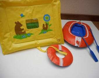 Vintage Barbie Puff'nPlay Inflatable Doll Camping Furniture (1979)