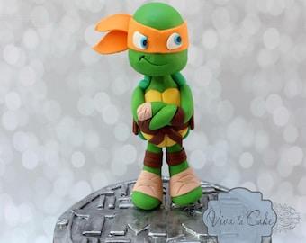 Ninja Turtle fondant cake topper
