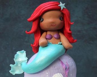 Sweet Little Mermaid fondant cake topper