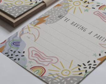 Weather - Party Invitations