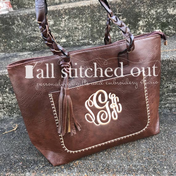 798c5b8d53 Monogrammed Jayde Purse Monogrammed Tote Bag Personalized