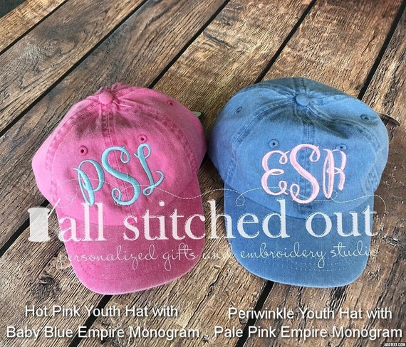 ccfc2e5c8 Monogrammed Youth Hat - Youth Pigment Personalized Hat - Personalized youth  hat - Monogrammed Ball Cap - Personalized Ball Cap - Kid's hat
