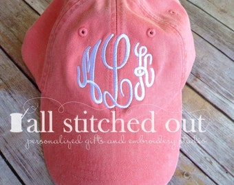 Monogrammed Hat - Master Circle Monogram - Personalized Cap - Monogrammed Baseball hat - Personalized Hat - Monogram hat - ball cap