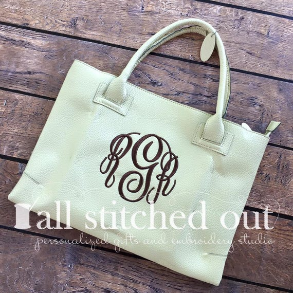 d8ec0564c2 Big Monogrammed Charleston Purse Great Summer Purse
