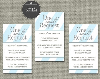 Printable Book Request for Baby Shower   INSTANT DOWNLOAD   No. IAB-133br