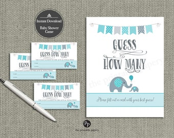 "Baby Shower ""Guess How Many"" 