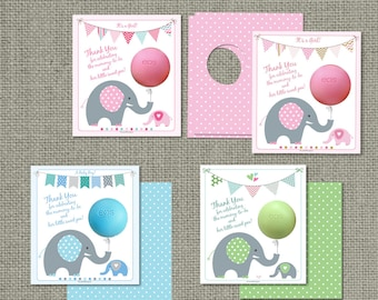 Printed Baby Shower Gift Tags for EOS lip balm gifts | Thank You Tags | mommy-to-be & her little sweet pea! | 12 Favor Tags | No. PBE2-EOS1