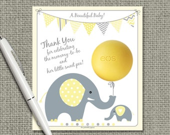 Baby Shower Gift Tags for EOS lip balm gifts | Thank You Tags | INSTANT DOWNLOAD | Favor Tags | No. BBE7-eos