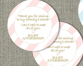 Baby Shower Gift Favor Tags | Personalized | Printable | Round or Square Favor Tags | DIY Custom Party Favor Tags | IAB | No. IAG-155K