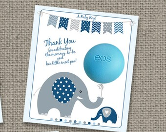 Baby Shower Gift Tags for EOS lip balm gifts   INSTANT DOWNLOAD   Thank You Tags   BBE9-eos