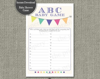 """Printable """"ABC"""" Game 