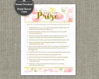 """Printable  """"Pass the Prize"""" Baby Shower Game 