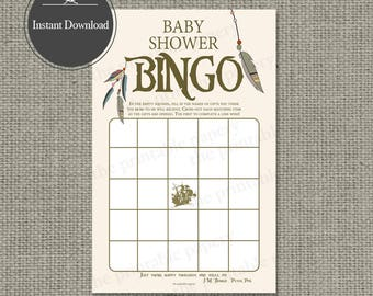 "Printable  ""Baby Shower BINGO"" Game 