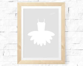 Printable Nursery Room Wall Art | Ballet Tutu | Ballerina | Dance | Nursery Print | Little Girl Print |  Digital Download | No. BAL1-2