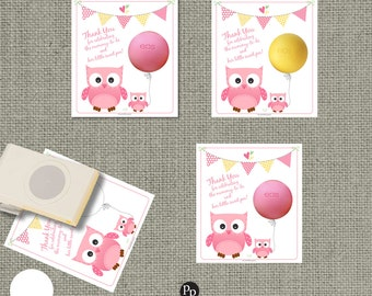 Baby Shower Owl Gift Tags for EOS lip balm | INSTANT DOWNLOAD |  Favor Tags Owls-EOS1