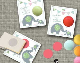 Baby Shower Party Favors for eos lip balm | Thank You gift tags | INSTANT DOWNLOAD | No. bbe BAC-EOS1