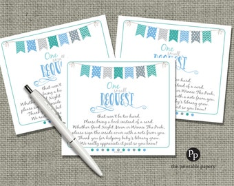 Printable Book Request for Baby Shower | INSTANT DOWNLOAD | No. BBE-133br