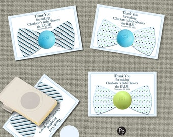 Bow Tie Baby Shower Gift Tags for EOS lip balm gifts | Thank You Tags | BOW1-EOS1