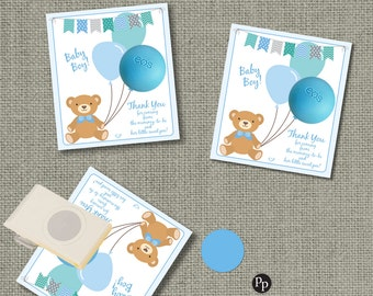 Baby Shower Gift Tags for EOS lip balm gifts | INSTANT DOWNLOAD | Thank You Favor Tags | No. BAL2-EOS1