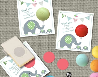 Twins Baby Shower Gift Tags for EOS lip balm gifts | Thank You Favor Tags | No. BACT-EOS1