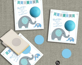 Baby Shower Gift Tags for EOS lip balm ~ INSTANT DOWNLOAD ~ Thank You Tags   No. BBE1-EOS1