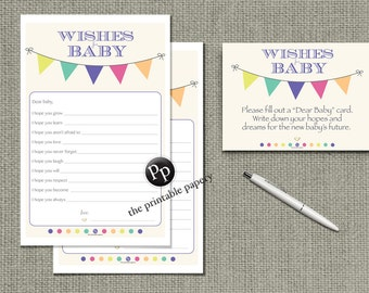 "Printable ""Wishes for Baby"" Game 